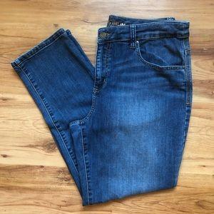 Chico's platinum jeans size 1 skimmer